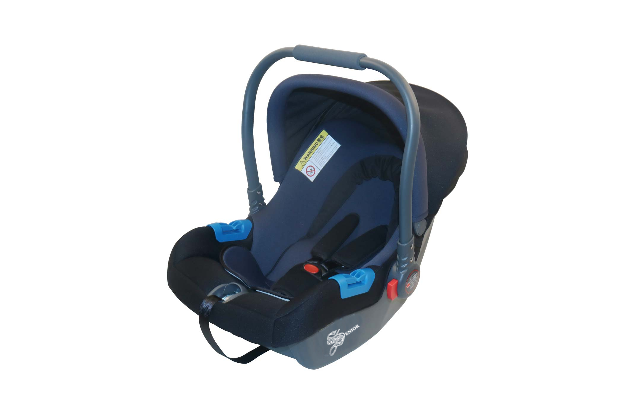 Blue baby carrier & car seat