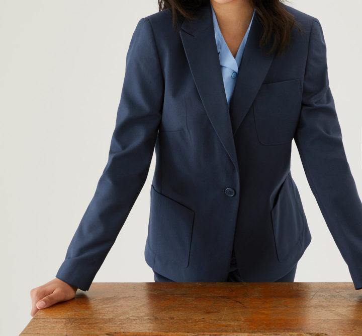 Navy slim fit blazer