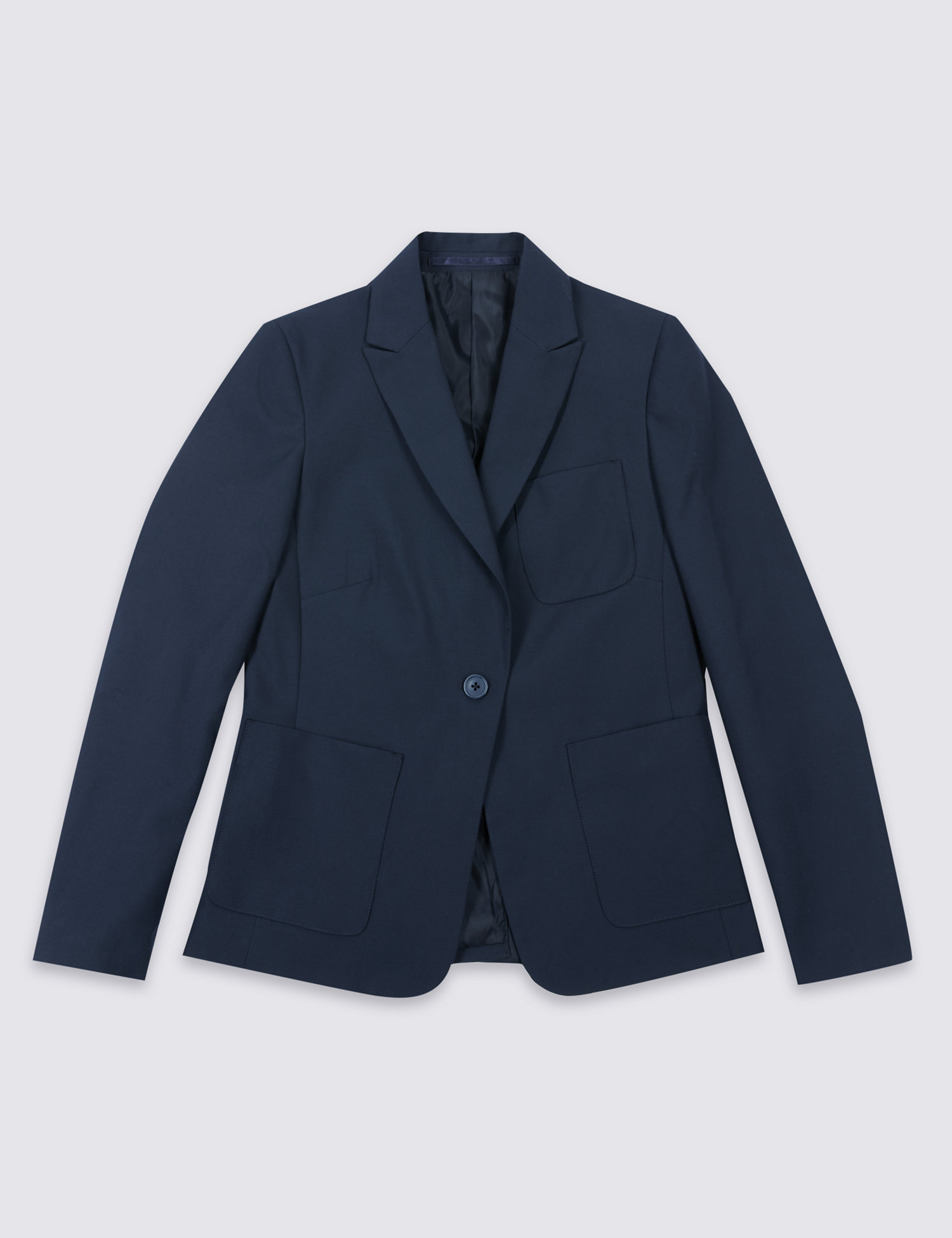 Slim fit navy blazer