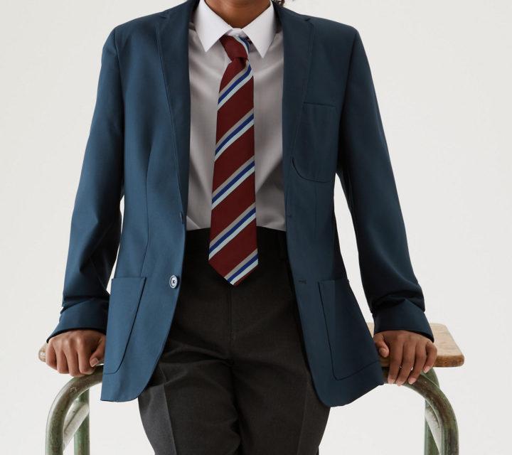 School deep green blazer