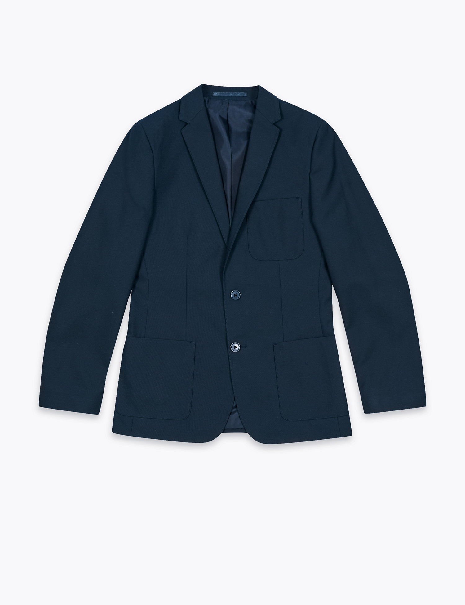 Navy slim fit school blazer
