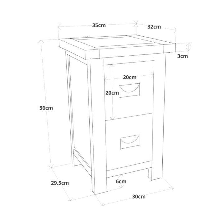 Pristine white bedside table