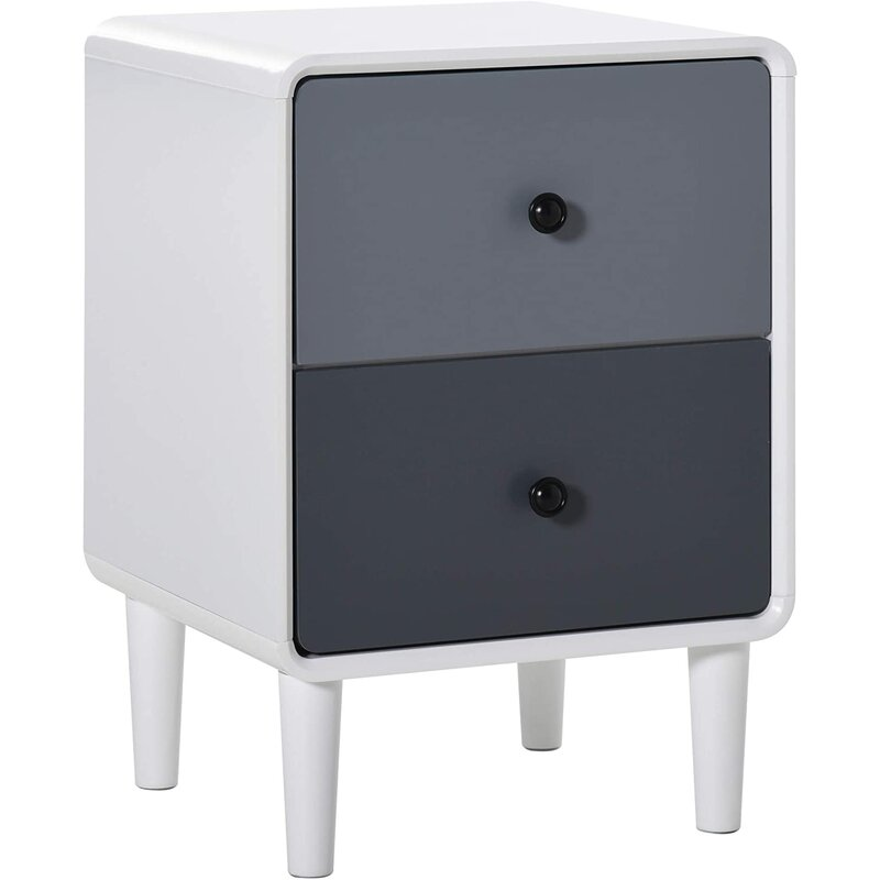 Grey toned modern bedside table