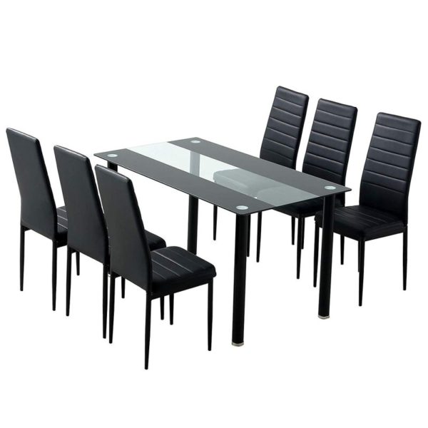 Pine table & chairs set
