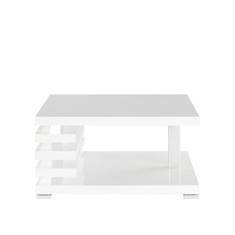 Unique white coffee table