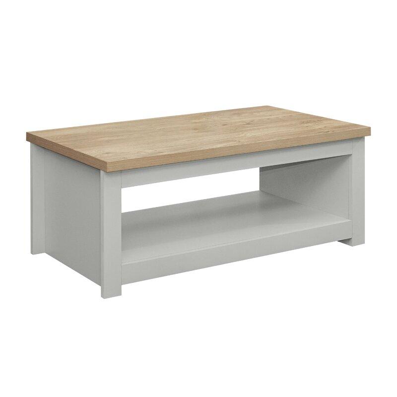 Elegant pale grey coffee table
