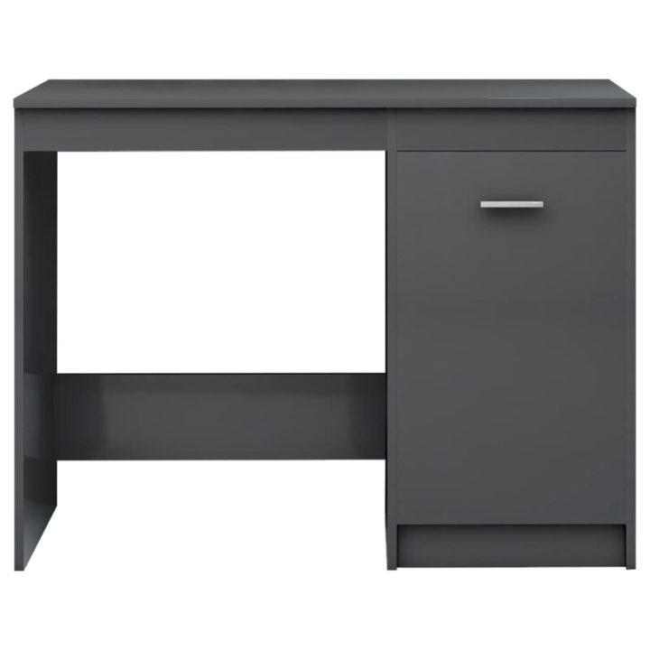 Smart grey computer desk