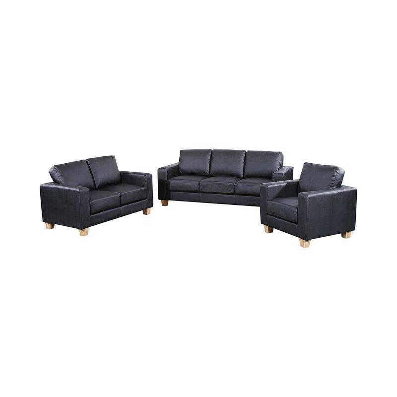 Classy leather 3 piece suite