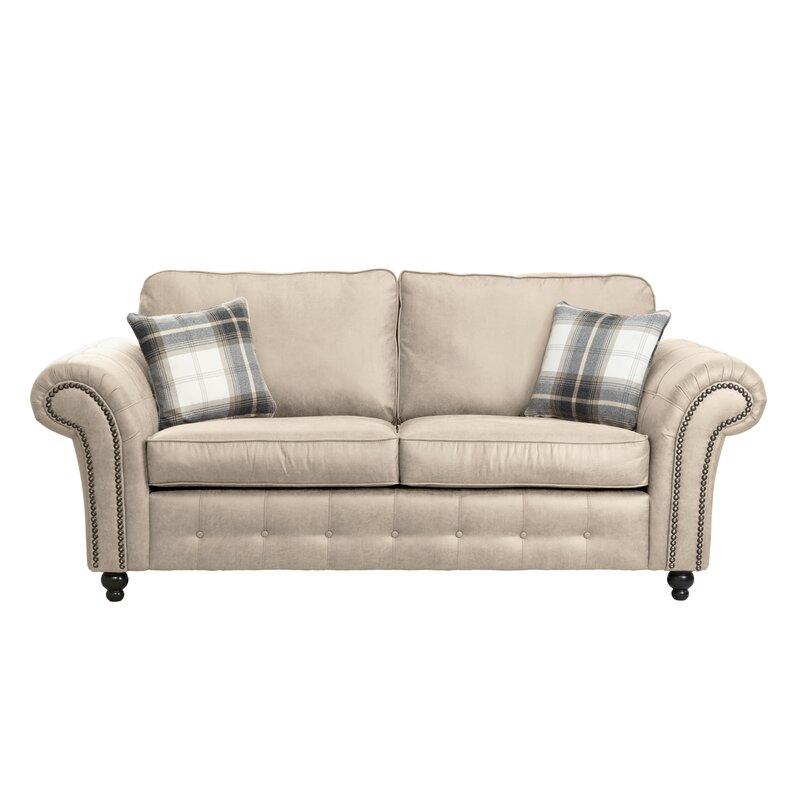 Deep cream 3 seater sofa