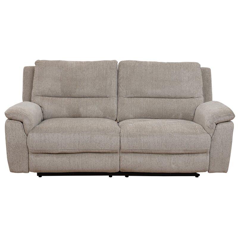 Reclining grey 3 seater sofa