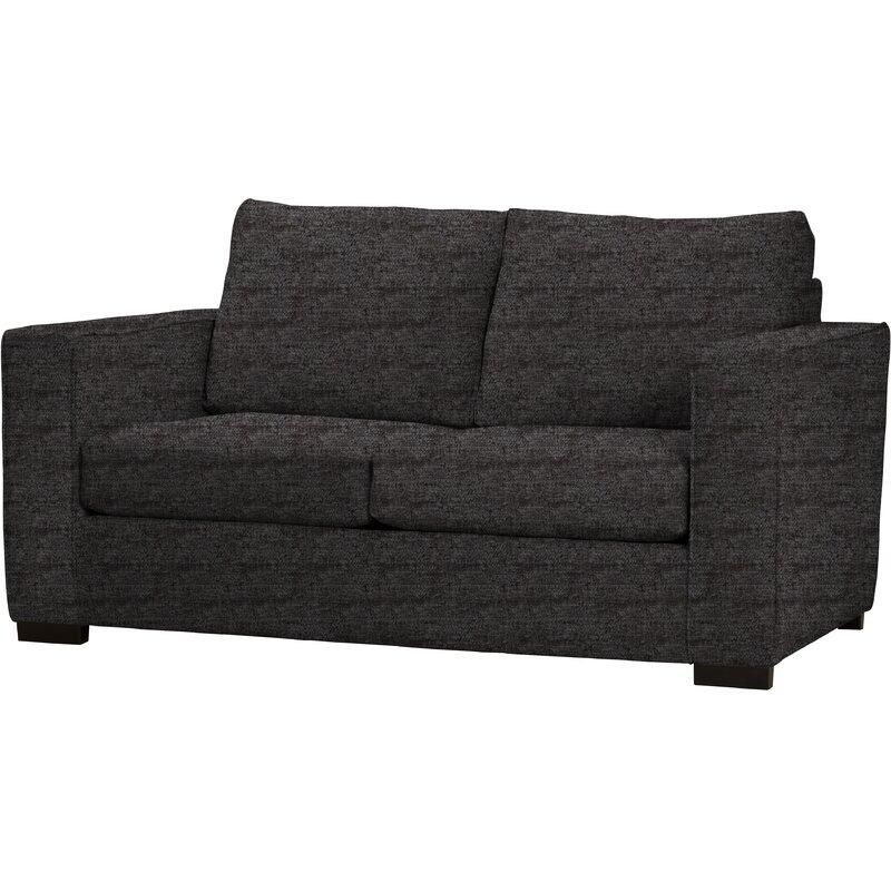 Pure faded black 2 seater sofa