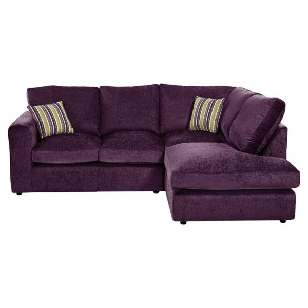 Deep maroon leather reclining corner sofa