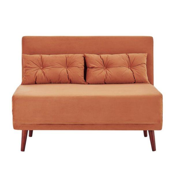 Fab black leather futon