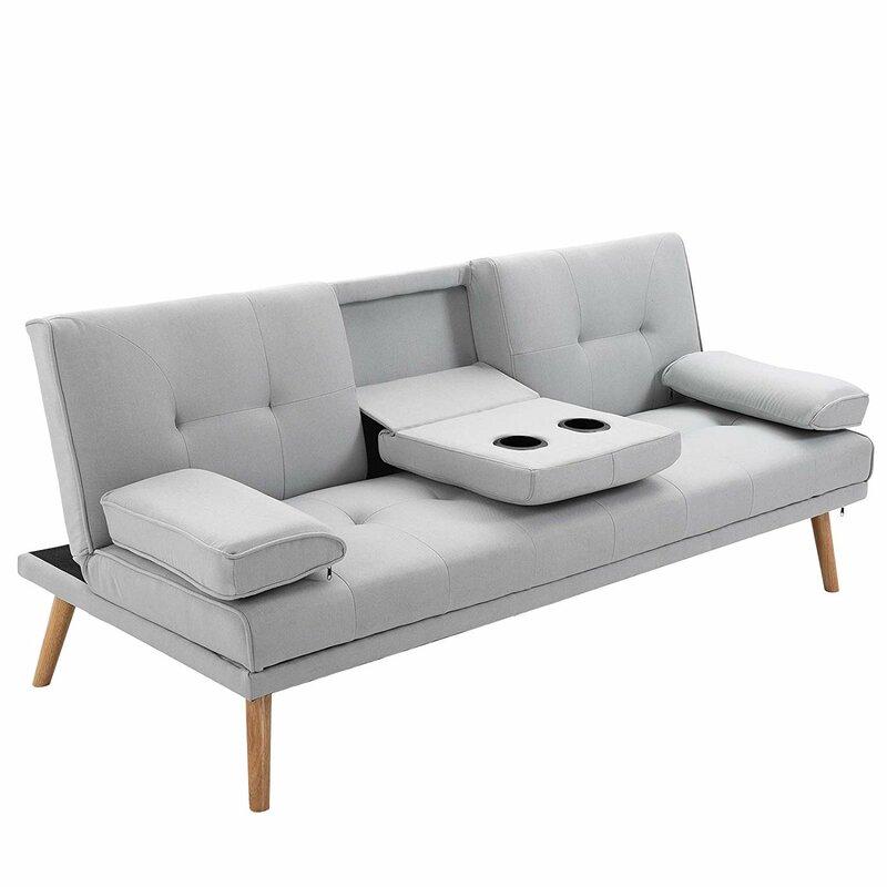 Classy grey sofa bed