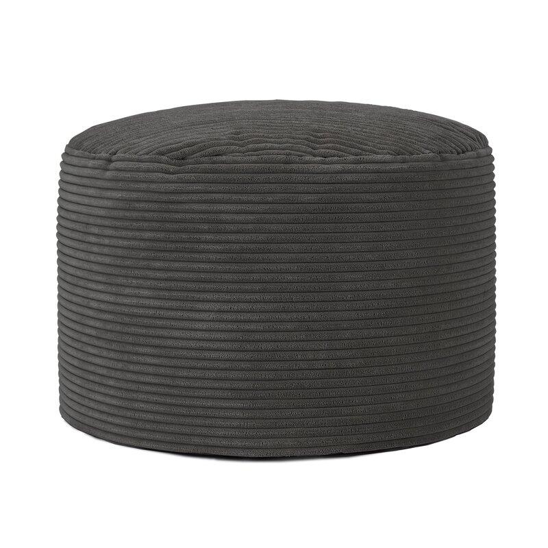 Charcoal pouffe