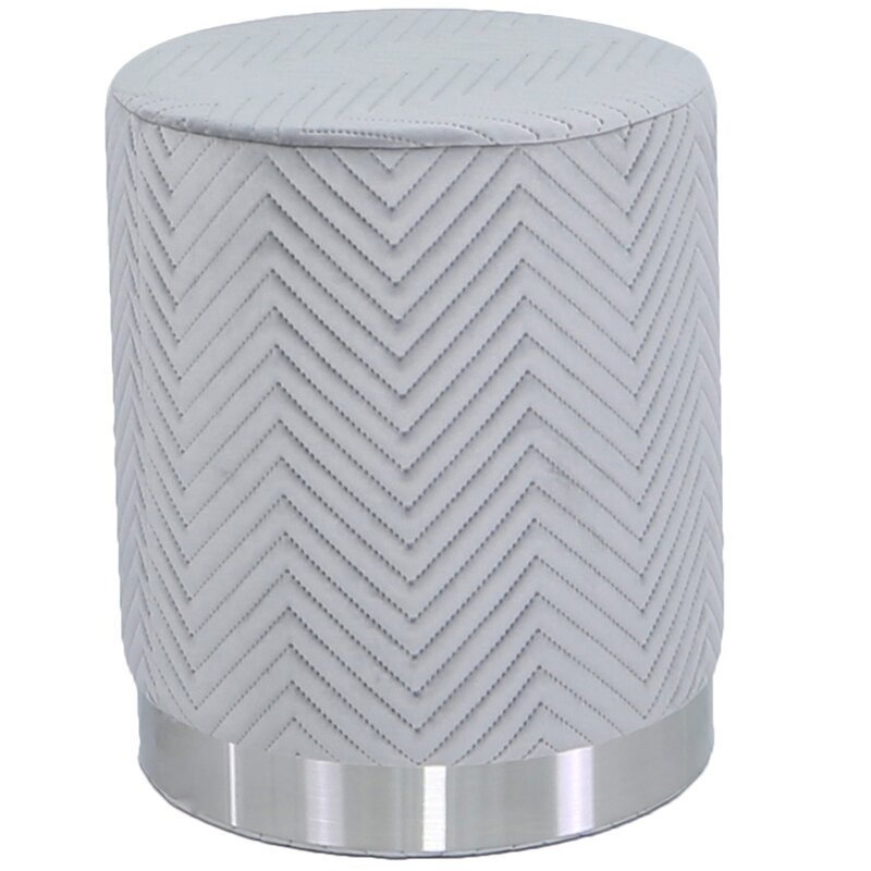 Woven grey stool
