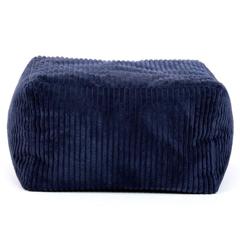 Soft lined pouffe