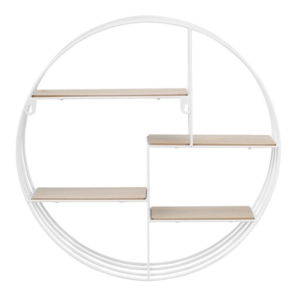 Rounded wall shelf