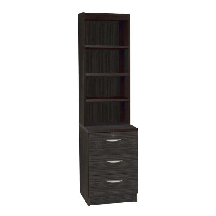 Tall deep grey bedroom storage unit