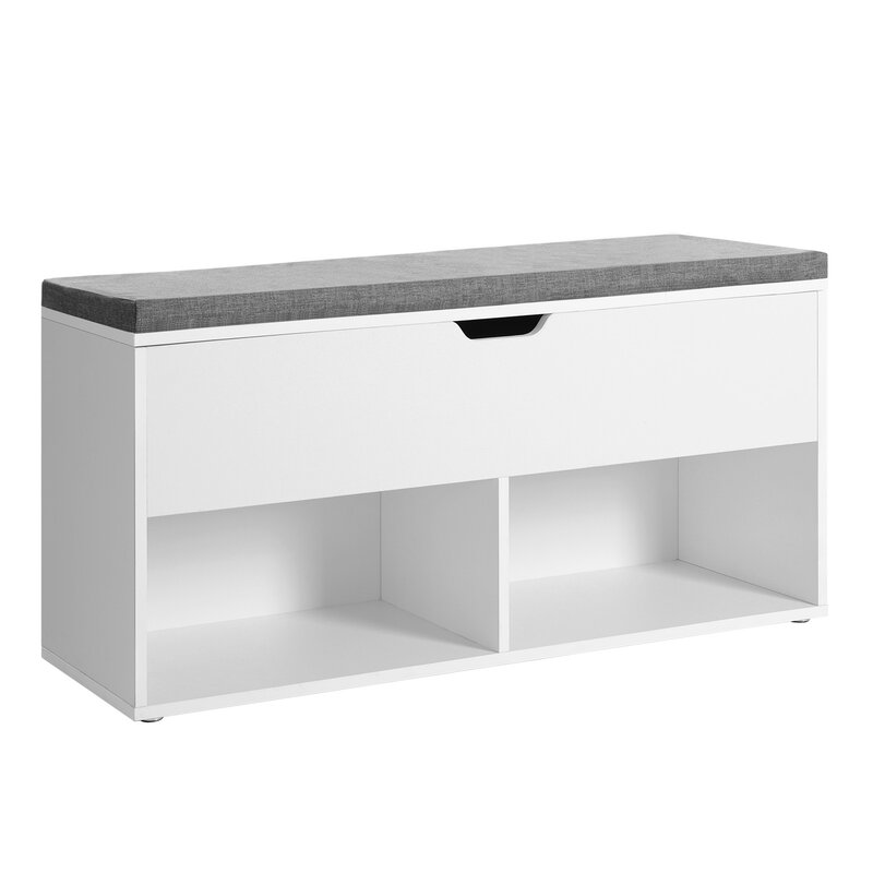 Grey & white bedroom storage unit