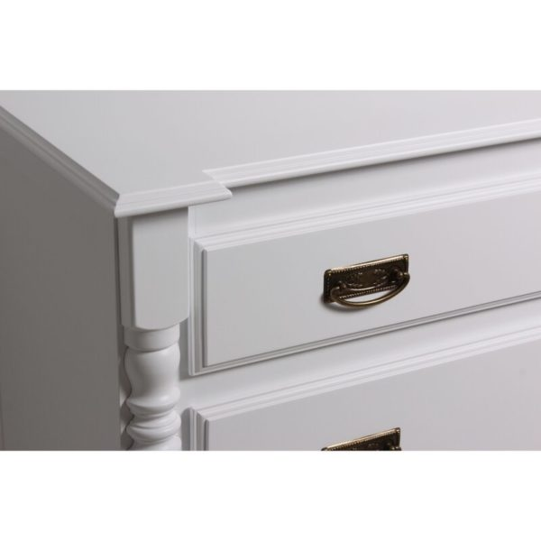 Ivory 6 drawer chest of drawers