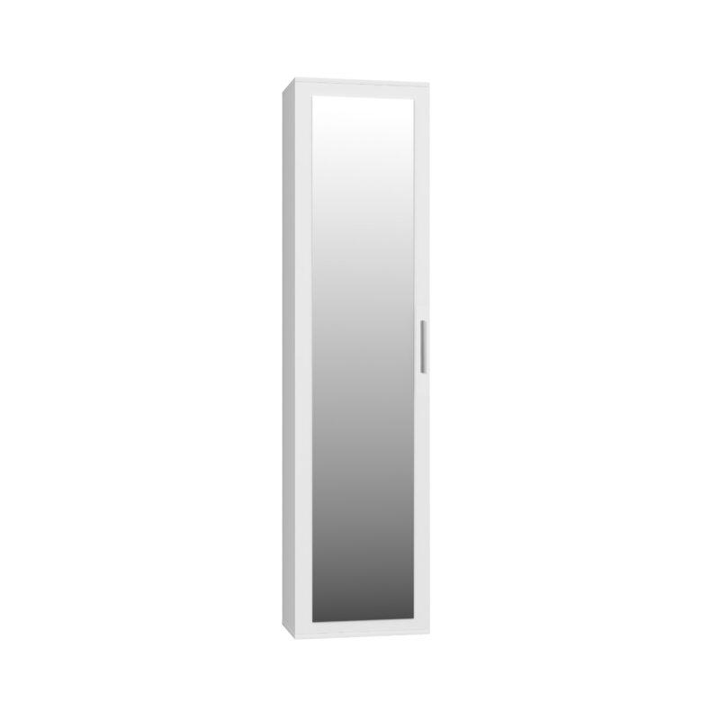 Tall mirrored 1 door wardrobe