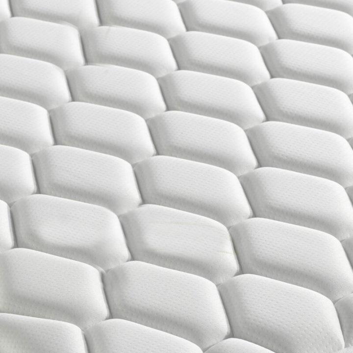 Open coil white memory foam mattress