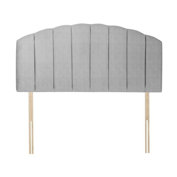 Smooth dark beige velvet headboard
