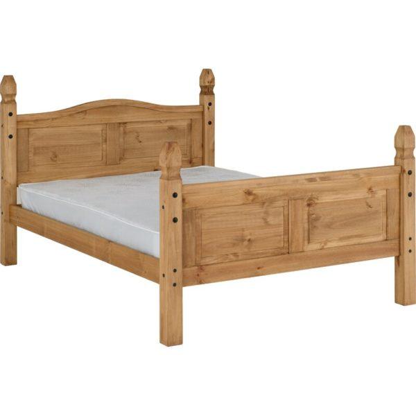 Smooth grey velvet bed