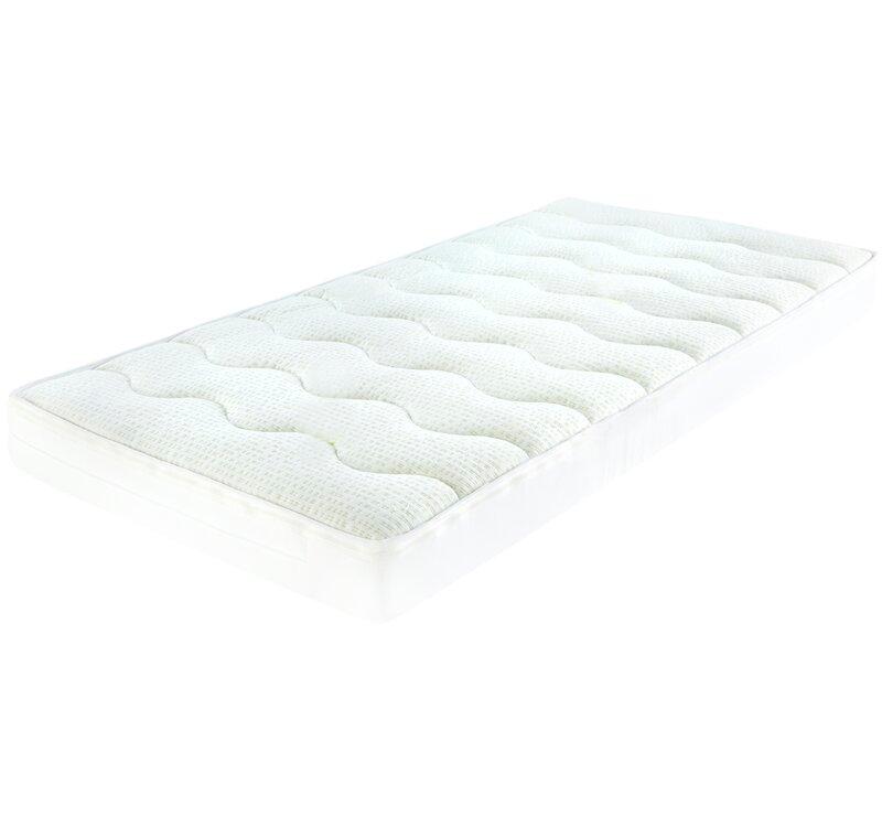 Pocket sprung white foam mattress