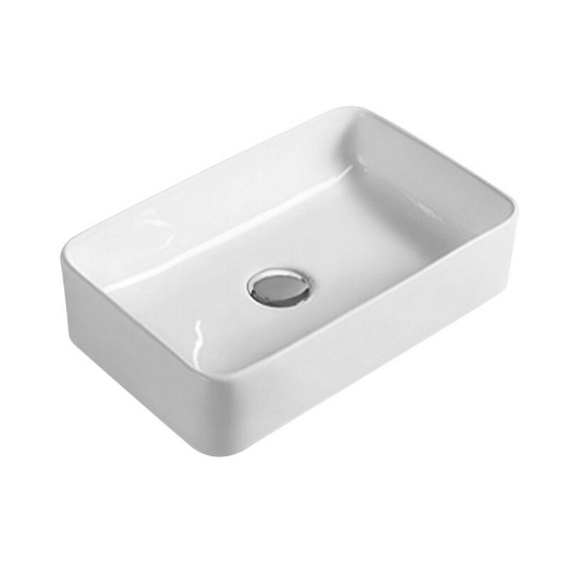 Rectangular white sink