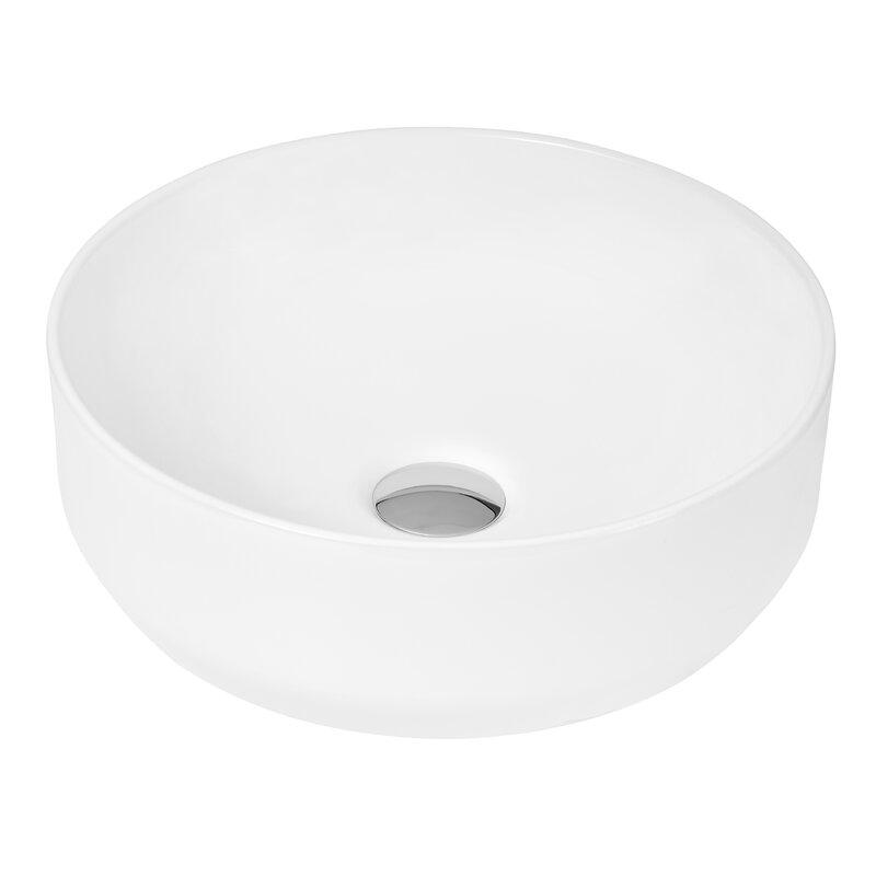 Circular white sink