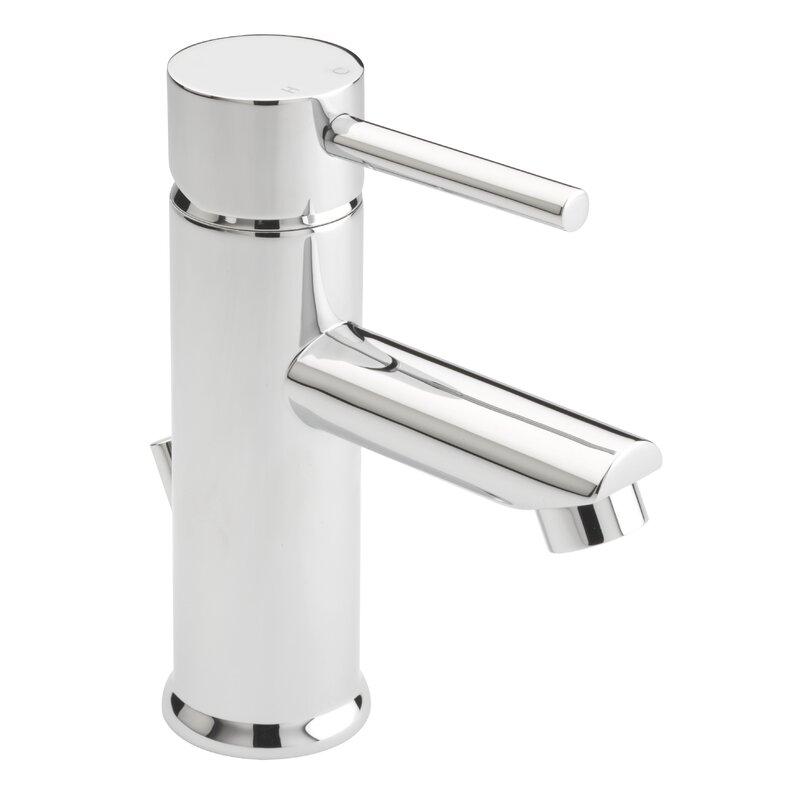 Slim single lever basin tap