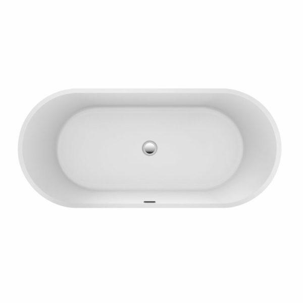 Modern black bath