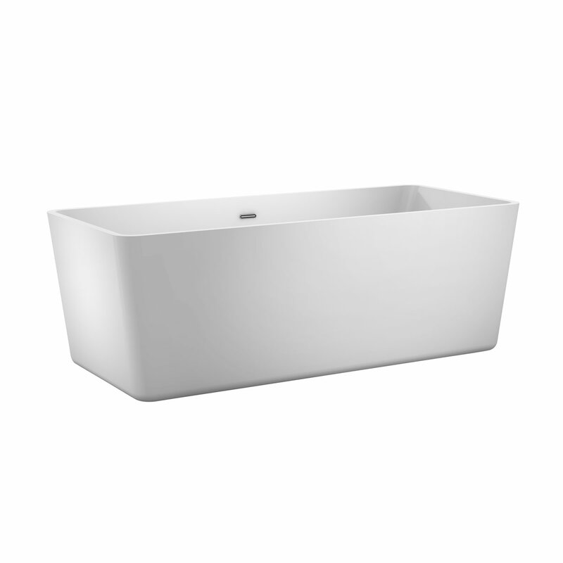 Double ended free standing white bath