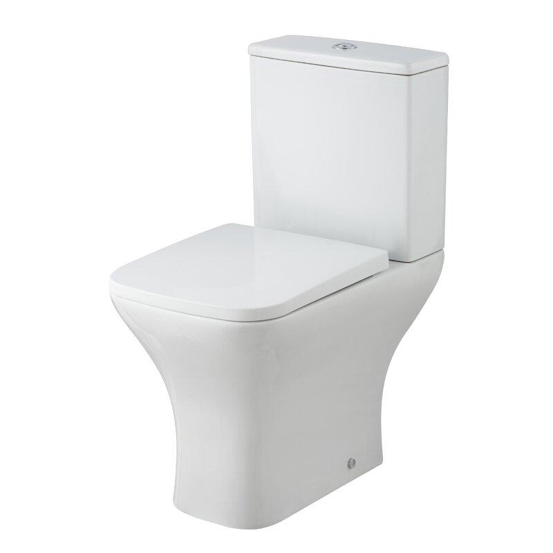 Smart white toilet