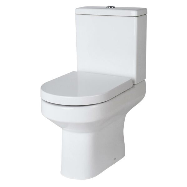 Lined grey toilet seat