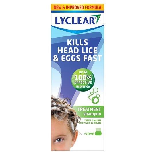 200ml Lyclear Shampoo Plus Comb