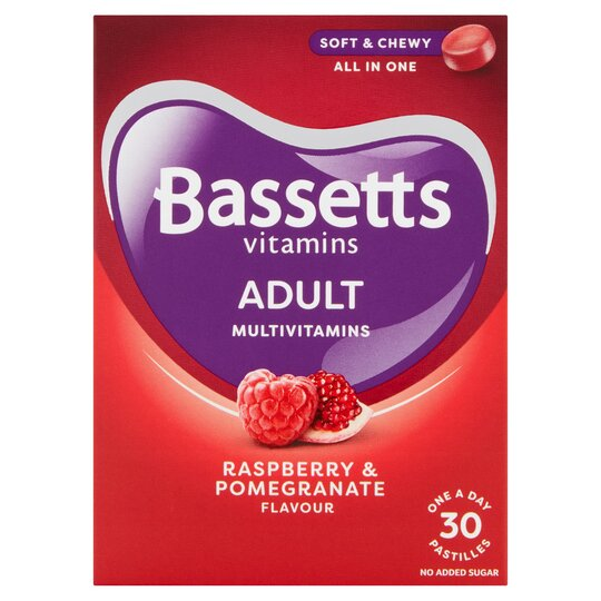 30 Bassetts Adult Multi Vitamin Raspberry & Pomegranate