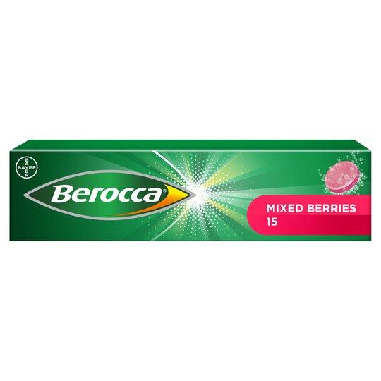 15 Berocca Berries Effervescent Vitamin Energy Tablets