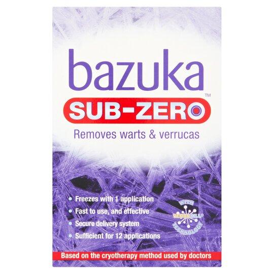 50ml Bazuka Sub Zero Warts & Verucca