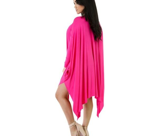 Draped long sleeved dress