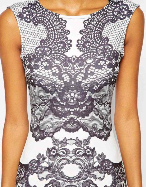 Elegant lace patterned midi dress