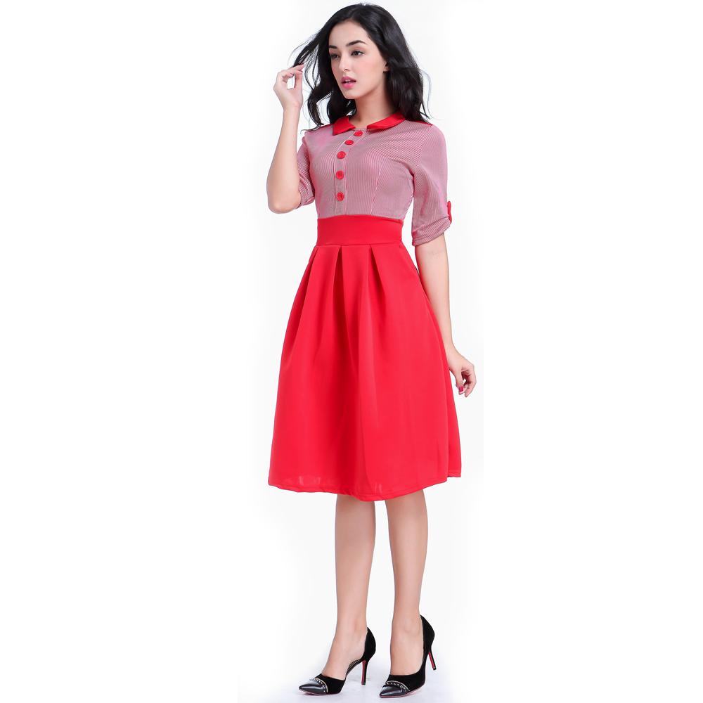 Lovely red office dress