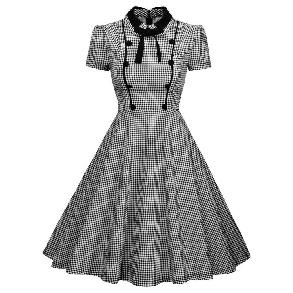 Vintage style polka dress
