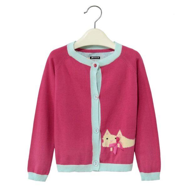 Cute cat pink cardigan