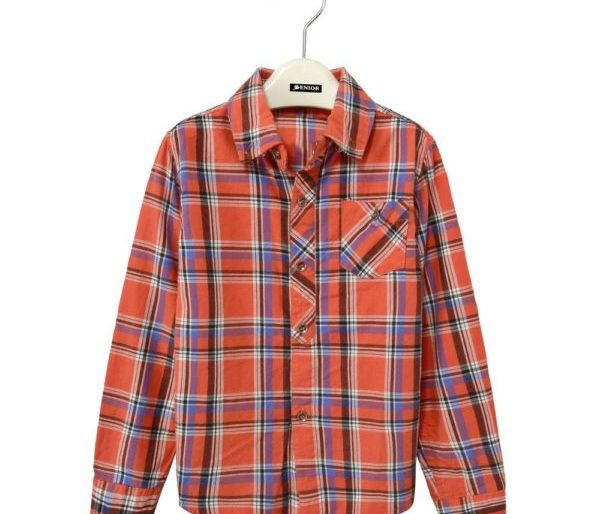 Bold chequered long sleeved shirt