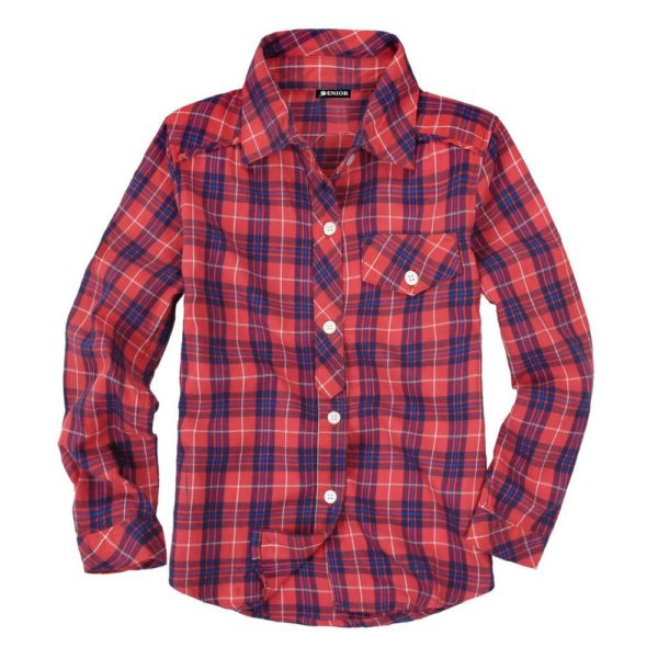 Casual chequered long sleeved shirt