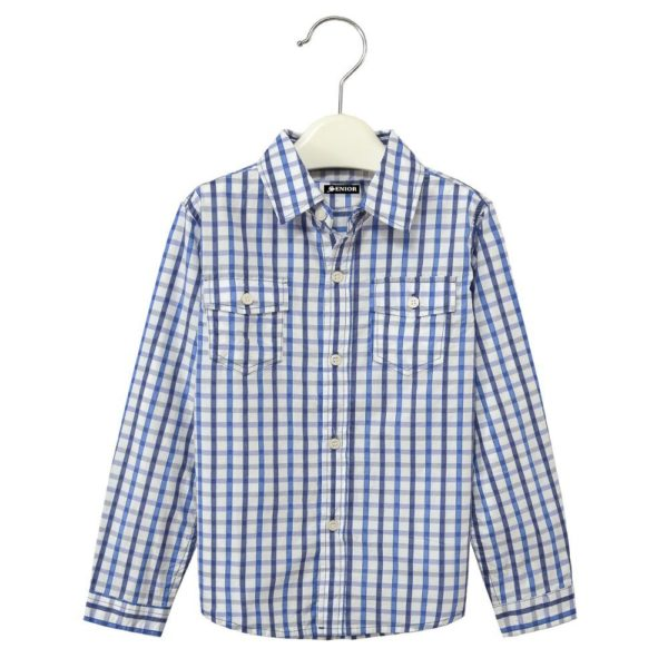 Classic chequered long sleeved shirt
