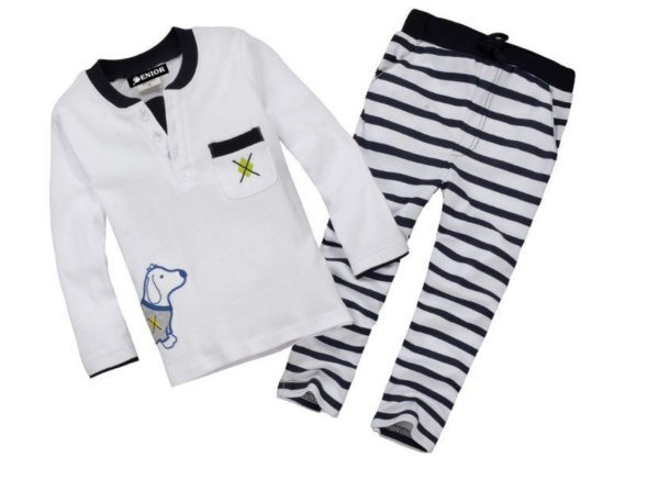 Cartoon dog print pyjamas set